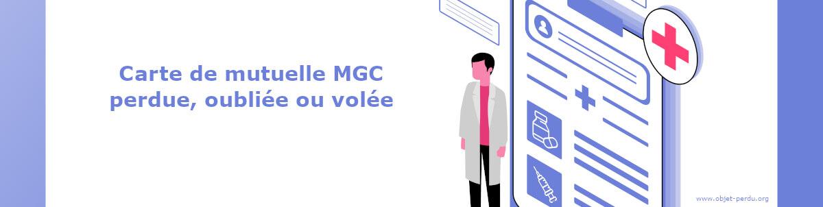 Carte mutuelle MGC perdue