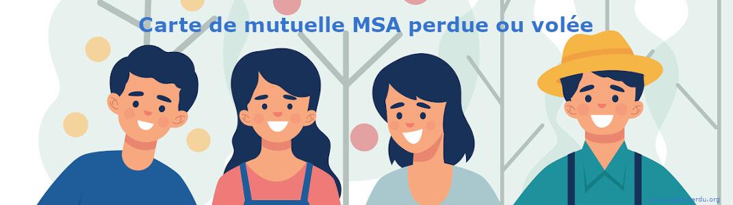 Carte mutuelle MSA perdue