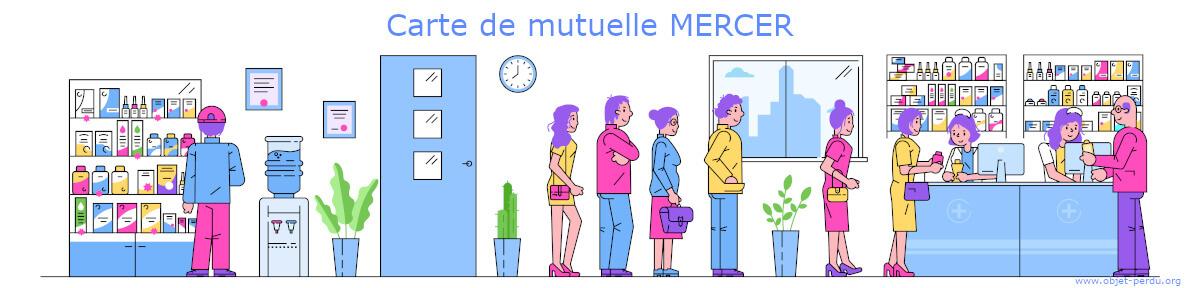 Carte mutuelle Mercer perdue