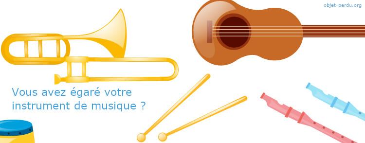 Instrument de musique égaré, perdu : que faire ?