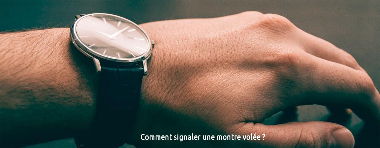 signaler une montre volée
