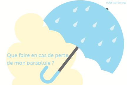Parapluie oublié ou perdu: que faire?