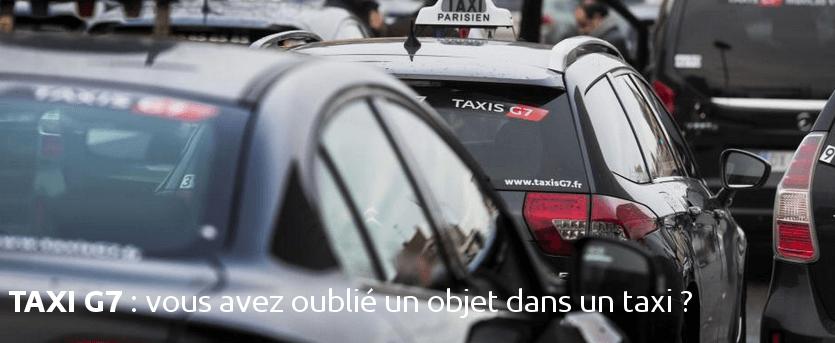 objets perdus dans un taxi g7